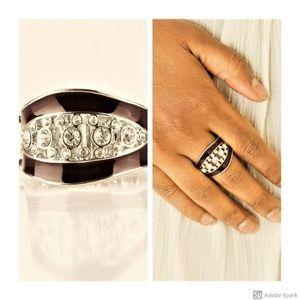 Trending Treasure - Purple & Silver Stretch Ring